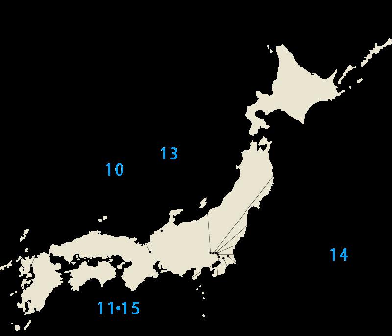 全国に広がる NAKAMOTO WORKS